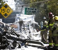 Fiery tanker-truck blast on Calif. highway kills driver
