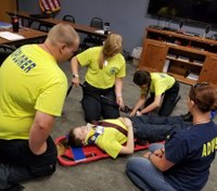 Photo of the Week: EMS Explorers train at Mo. county ambulance service