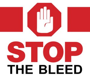 The Canandaigua Emergency Squad, led by Chief Matt Sproul, is distributing Stop the Bleed kits and providing staff with the training on how to use them.