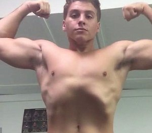 Just days before the attack, Austin Harrouff bragged about not using steroids to bodybuild. (Photo/YouTube)