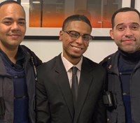 NYPD officers praised for helping homeless man