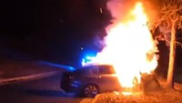 Video: Ga. police officers pull people from fiery crash