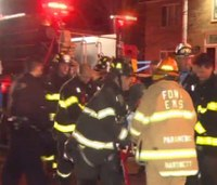 Mayday: NY firefighter falls through floor, rescued