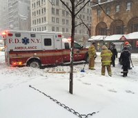 Dozens of NYC ambulances reported stuck in snow