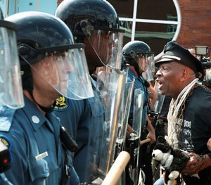 The 'Ferguson effect' developed in part from the reaction to the 2014 police shooting of Michael Brown in Ferguson, Missouri.