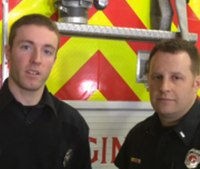 Firefighters save engine driver's life after collapsing at wheel