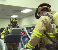 Firefighter raises funds in 24-hour 'Footsteps for the Fallen' walk