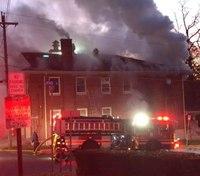 Pa. fire company building damaged in blaze