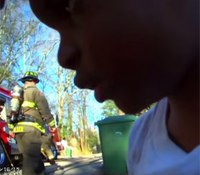 Video: Ga. cop rescues boy from burning home