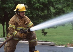 "Firefighter with the ""tip of the pipe"" in slang terms. (Photo/FreeStockPhotos)"