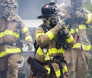 An independent study is being conducted on turnout gear after initial samples tested positive for fluorine.