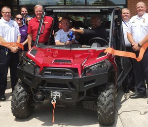 Firehouse Subs recently awarded SCCAD a grant for a utility terrain vehicle, which will be used to reach patients who suffer medical emergencies in areas difficult to access with traditional ambulances.(Photo/SCCAD)