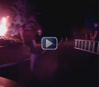 Video: NC cop grabs ladder off rig to rescue man from fire