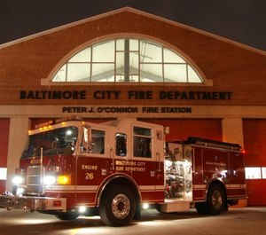 Three engines, one truck and one battalion chief will be dispatched to an alarm, down from the five engines, two trucks, two battalion chiefs and one medic unit that constitutes a full box alarm assignment. (Photo/Baltimore Fire Department)