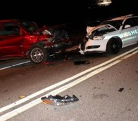 Fla. LEO hospitalized after patrol car hit head-on by wrong-way driver