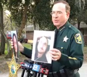 A detective was 'seriously injured' after two fleeing suspects struck him with their vehicle, said Polk County Sheriff Grady Judd. One of the suspects was later fatally shot when a second deputy attempted to arrest him. (Photo/Polk County Sheriff's Office)