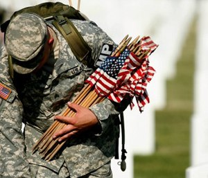 It's not easy being somber on Memorial Day, as the rest of the country — untouched by war and loss — celebrates a day off work, and it can make remembering a loved one even more difficult.