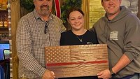 SC paramedic crafts wooden flags to honor fallen first responders