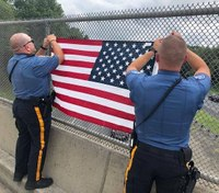 Police union to replace American flags on NJ Turnpike after officials barred them