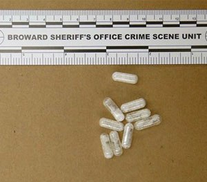 This Feb. 12, 2015 photo made available by the Broward Sheriff's Office, Fla., shows confiscated vials of flakka.