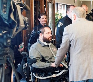 Ballwin Police Officer Michael Flamion was paralyzed after being shot in the neck during a traffic stop in July 2016. (Photo/FBI.gov)