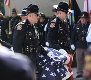 Law enforcement and the community gathered to pay their respects and remember Florida Highway Patrol Master Trooper Joseph Bullock who was killed in the line of duty last week. (Photo/TNS)