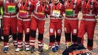 Medics run half marathon in flight suits
