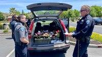 Calif. officers deliver Mother's Day flowers after arresting driver for DUI