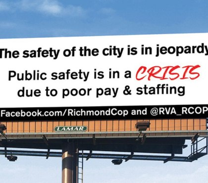 A police union put up billboards claiming the city is unsafe. Not true, the chief says