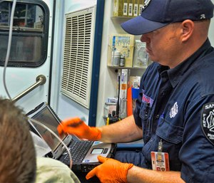 Brent McGinnis quickly envisioned potential uses for FirstNet by EMTs and paramedics.
