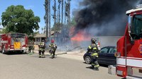 Calif. firefighter treated for heat-related illness after residential fire