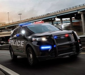 Ford has started rolling out a new software system for its Police Utility vehicles that will automatically disinfect the SUVs. (Photo/Ford Motor Company)