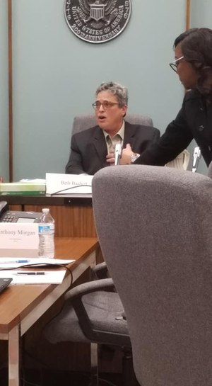 Former Ypsilanti Mayor Beth Bashert speaks at a city council meeting earlier this year. Image: Facebook