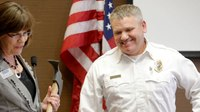 Firefighter of the Year stuck in elevator before ceremony
