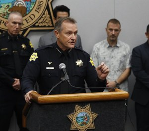 Fresno Police Chief Andrew Hall addresses the media about a shooting at a house party which involved multiple fatalities and injuries in Fresno, Calif., on Monday night. (Photo/Gary Kazanjian/AP)