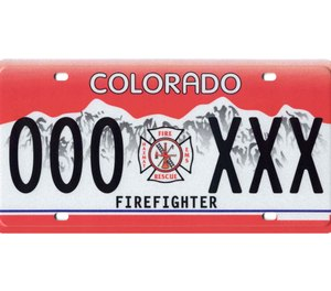 Former La Junta Fire Chief Aaron Eveatt pleaded guilty to one count of first degree officials misconduct after reportedly attempting to obtain an unauthorized firefighter license plate while on probation. (Photo/Colorado Department of Revenue, Division of Motor Vehicles)