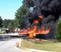 Ala. firefighters let fuel tanker burn out