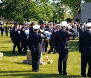 A funeral was held Monday for fallen firefighter-EMT Juan Bucio.
