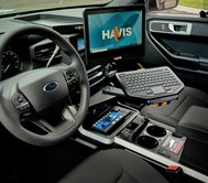 The advanced style of the new Havis console catapults public safety vehicle cabins into a new era. (Courtesy photo)
