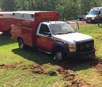 Ga. man steals, crashes rig through fire station