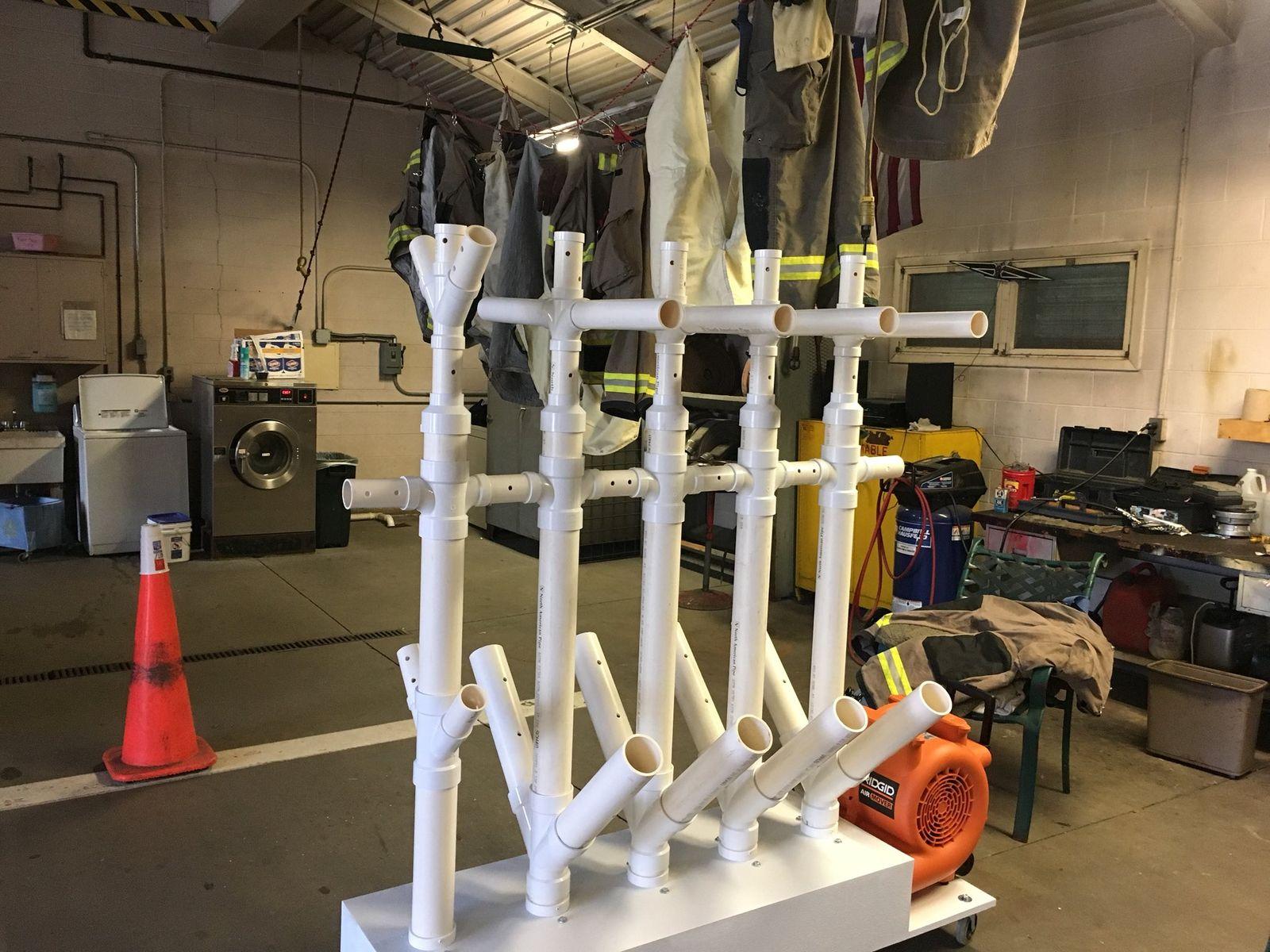 Firefighter develops gear dryer to