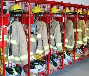 GearGrid's line of wall-mounted and mobile PPE lockers provide the means for both drying and storing of PPE in one product. Contact the company for a free custom estimate. (image/GearGrid)