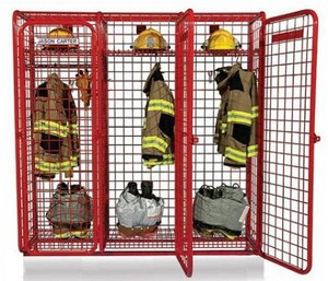 This new generation of storage locker systems can either be installed along interior walls of a fire station or mounted as freestanding lockers in between fire apparatus in the apparatus bay, or kept mobile using heavy-duty casters.