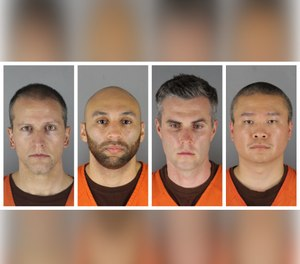 This combination of photos provided by the Hennepin County Sheriff's Office in Minnesota on Wednesday, June 3, 2020, shows Derek Chauvin, from left, J. Alexander Kueng, Thomas Lane and Tou Thao. (Photo/Hennepin County Sheriff's Office via AP)