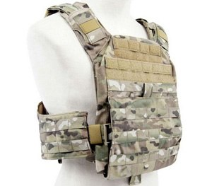 The front and back of the Banshee Rifle Plate Carrier features five rows of PALS webbing and two 2 inch rows of loop sewn on for flags and other identifiers. (Photo courtesy Gideon Tactical)