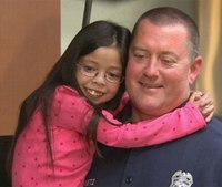 Girl, 10, throws surprise pizza party for LAFD firefighters
