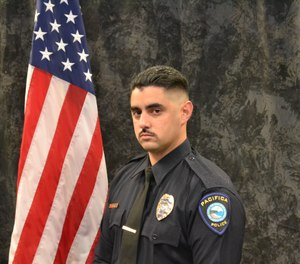 The wound treatment videos Officer Joe Gomez watched on YouTube led to him saving a YouTube employee's life. (Photo/Officer Joseph Gomez)