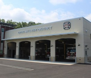 Newburgh firefighters displaced from their asbestos-riddled firehouse will get a temporary home at the Good-Will Fire District's. new station under a new proposal (Photo/GWFD)