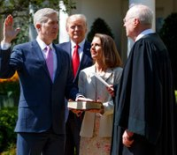 Gorsuch sworn into Supreme Court, vows to serve Constitution