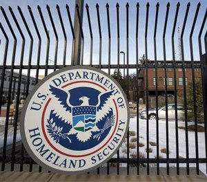 This Feb. 24, 2015, file photo, shows the Homeland Security Department headquarters in northwest Washington.